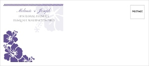 Purple Boarding Pass Destination Custom Envelope