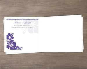 Purple Boarding Pass Destination Custom Envelope