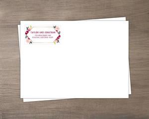 Boho Floral Wedding Envelope