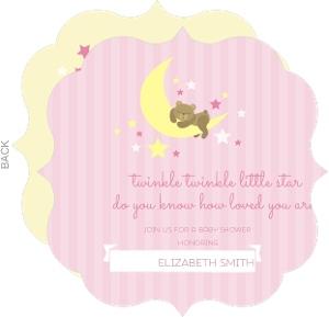 Twinkle Little Pink Star Baby Shower Invitation