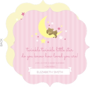 Twinkle Little Pink Star Baby Shower Invitation