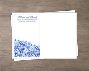 Cascading Handpainted Floral Wedding Envelope