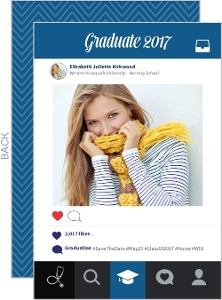 Fun Socialmedia Graduation Save The Date Card