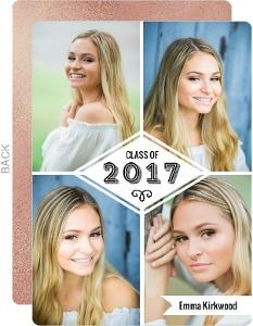 Quad Photo Collage Graduation Save The Date Announcement