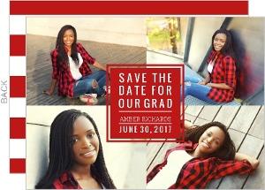 Bold Block Graduation Save the Date Card