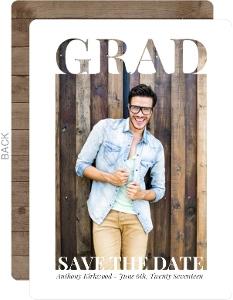 Grad Cutout Frame Graduation Save The Date