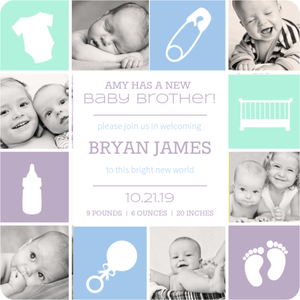 Baby Blocks Birth Announcement Magnet