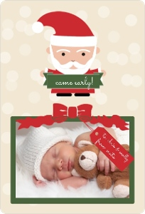 Christmas Gift Photo Birth Announcement