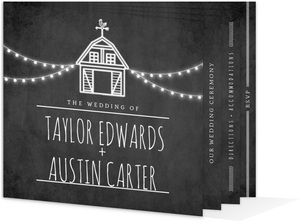 Rustic Barn Wedding Booklet Invitation