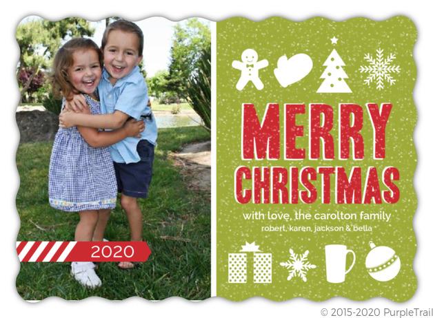 Christmas Icons Christmas Photo Card