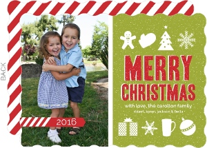 Christmas Icons Christmas Photo Card
