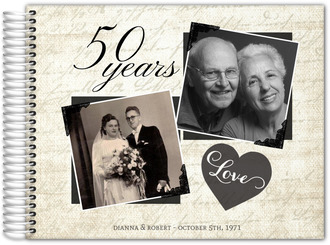Vintage Photo Collage Anniversary Guest Book