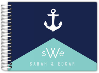 Modern Nautical Monogram Wedding Guest Book
