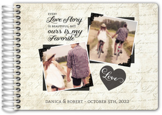Vintage Love Story Wedding Guest Book