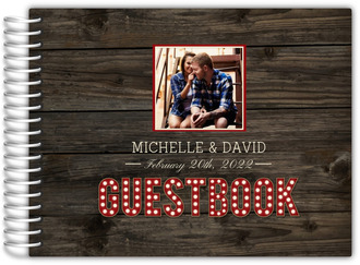 Rustic Wood Marquee Decor Wedding Guest Book