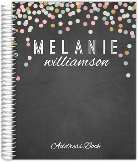 Chalkboard Colorful Confetti Address Book