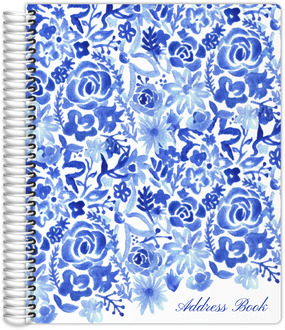 Cascading Handpainted Floral Address Book