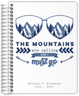 Mountains Are Calling Custom Daily Planner