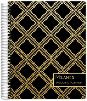 Gold Aztec Pattern Custom Wedding Planner