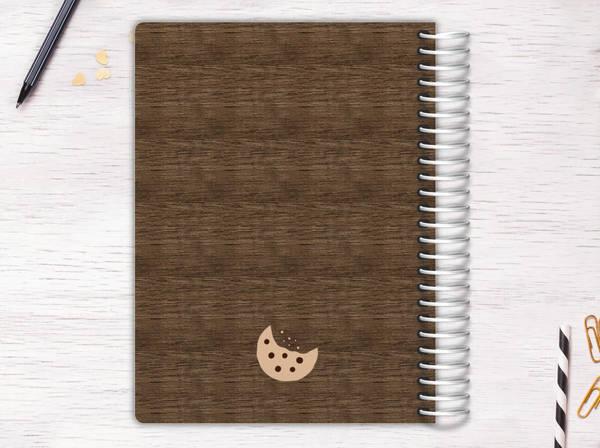Turquoise Goofy Monster Recipe Journal
