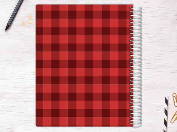 Kraft Scallop Plaid Recipe Journal