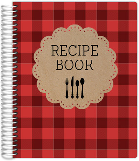 Kraft Scallop Plaid Recipe Journal