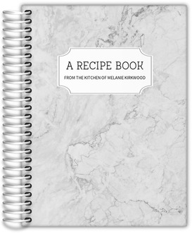 White Marble Recipe Journal