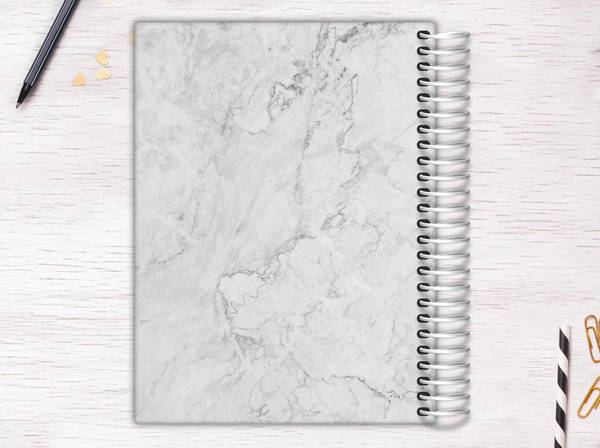 White Marble Recipe Journal