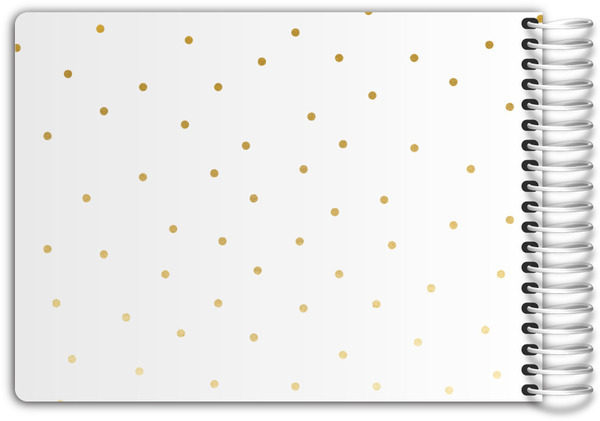 White and gold dots bathroom guest book bathroom guest books for Bathroom guest book