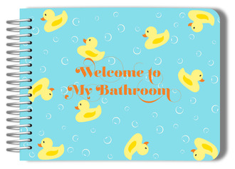 Rubber Duck Bathroom Guest Book