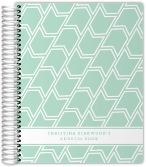 Mint Banner Pattern Address Book