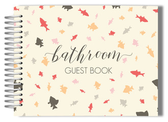 Colorful Fish Pattern Bathroom Guest Book