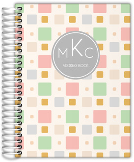 Pastel Square Pattern Address Book