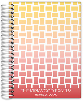 Basket Weave Pattern Address Book