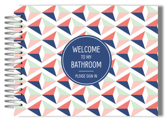 Triangular Geometric Pattern Bathroom Guest Book
