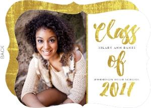 Glamorous Foil Graduation Announcement Card
