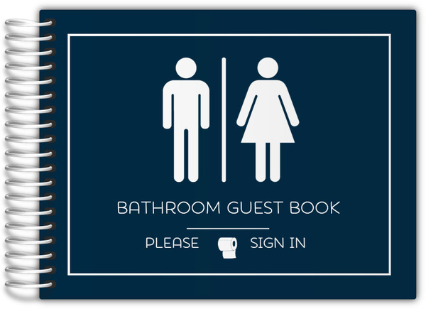 Boy girl icon bathroom guest book bathroom guest books for Bathroom guest book