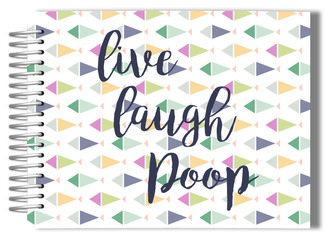 Live Laugh Poop Bathroom Guest Book