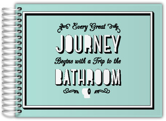 Journey Trip To Bathroom Guest Book