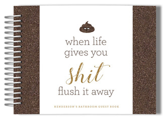 Flush it Away Bathroom Guest Book