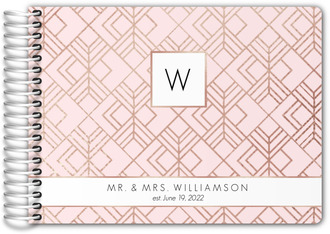 Blush Faux Rose Gold Wedding Guest Book
