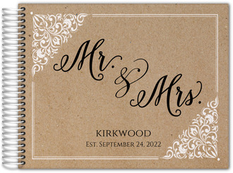 Kraft Frame Wedding Guest Book