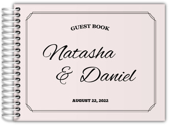Simple Double Frame Wedding Guest Book
