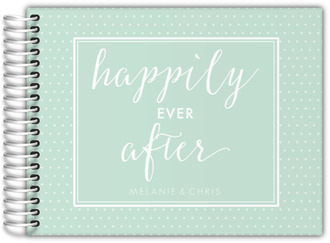 Mint Happily Ever After Wedding Guest Book