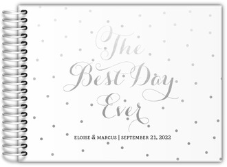 Faux Silver Foil Best Day Ever Wedding Guest Book