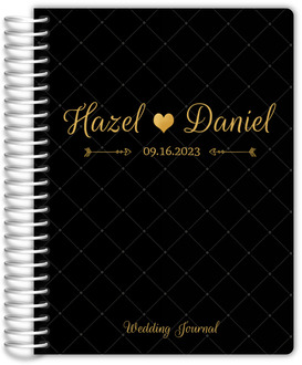 Fancy Black and Gold Wedding Journal