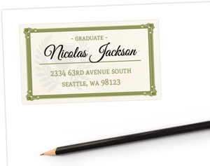 Matching Graduation Diploma Address Label