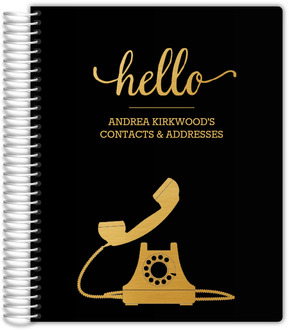 Faux Gold Foil Telephone Address Book