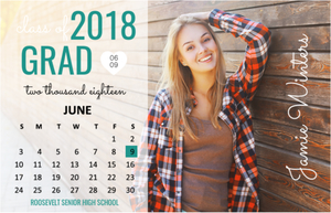 Photo Calendar Graduation Magnet