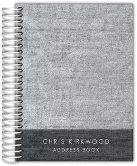 Dark Gray Denim Address Book